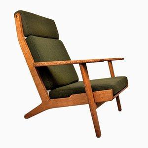 GE290 Sessel mit hoher Rückenlehne von Hans J. Wegner, 1955