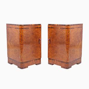 Tables de Chevet Art Déco en Érable, Set de 2