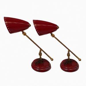 Lampade da tavolo vintage, anni '60, set di 2