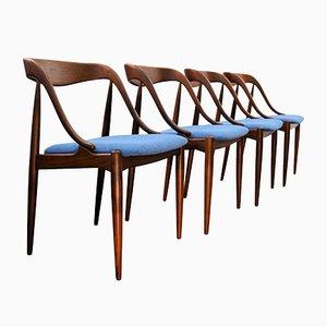 Esszimmerstühle aus Teak von Johannes Andersen für Uldum Møbelfabrik, 1960er, 4er Set
