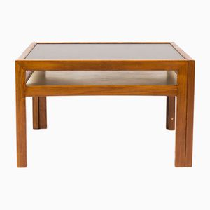Beech & Black Laminate Coffee Table by André Sornay, 1960s