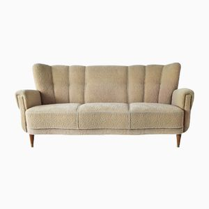Vintage Danish Patterned 3-Seater Sofa