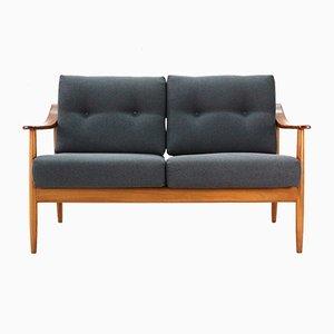 Vintage 2-Sitzer Sofa aus Kirschholz von Wilhelm Knoll, 1960er