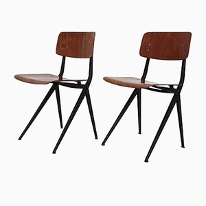 Industrial School Chairs from Marko, 1970s, Set of 2