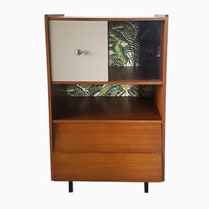 Vintage Jungle-Themed Storage Cabinet