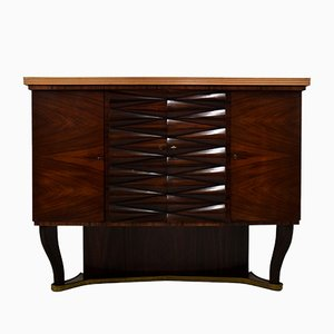 Rosewood Dry Bar Cabinet by Osvaldo Borsani, 1940s