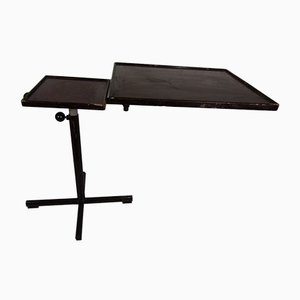 Vintage Adjustable 2-Tier Wooden Side Table, 1960s