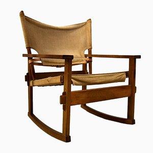 Rocking Chair Safari Mid-Century par Poul Hundevad, 1950s