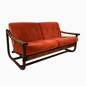 Italian Two-Seater Bamboo Lounge Sofa, 1960s