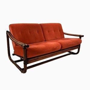 Italienisches 2-Sitzer Sofa mit Bambusgestell, 1960er