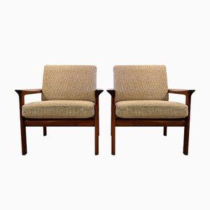 Mid-Century Sessel aus Teak von Sven Ellekaer für Komfort, 2er Set
