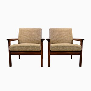 Mid-Century Teak Lounge Chairs by Sven Ellekaer for Komfort, Set of 2