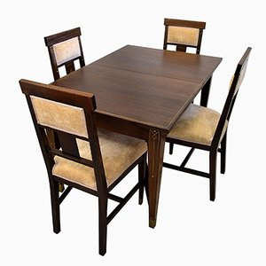 Tavolo e sedie da pranzo vintage, 1928