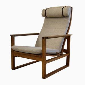 Mid-Century Model BM-2254 Oak Lounge Chair by Børge Mogensen for Fredericia