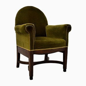 Art Deco Oak Armchair from H. Pander & Zn., 1930s