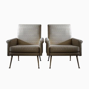 Mid-Century Italian Modern Lounge Chairs