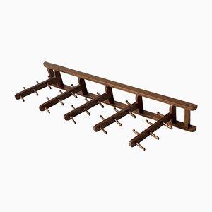 Perchero ajustable de madera, años 60