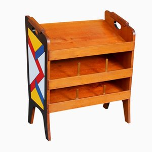 Vintage Painted Magazine Rack, 1960s