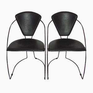 Italienische Vintage Stühle, 1980er, 2er Set