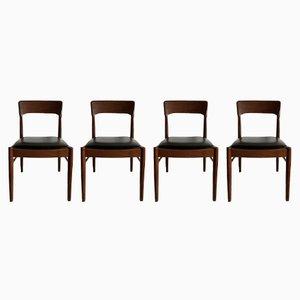 Vintage Stühle von Kaï Kristiansen für KS Möbler, 4er Set