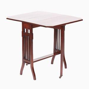 Antique Edwardian Mahogany Inlaid Drop-Leaf Sutherland Table
