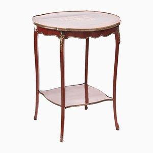 Tavolino vittoriano antico intarsiato, Francia