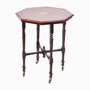 Victorian Mahogany Inlaid Center Table, 1880s