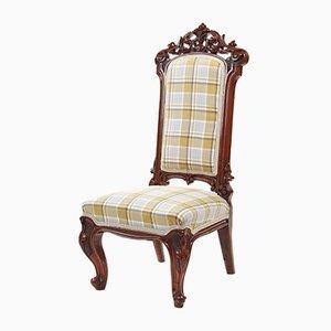 Antique Carved Walnut Nursing Chair