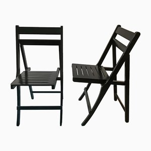 Morettina Folding Chairs by Ettore Moretti for Zanotta, Set of 2