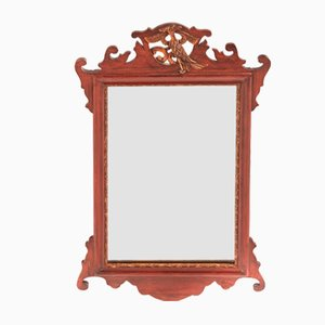 Antique Georgian-Style Mahogany Wall Mirror