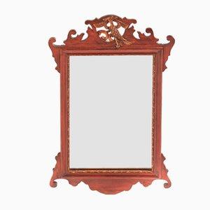 Antique Georgian-Style Mahogany Wall Mirror