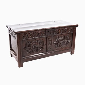 17th Century Carved Oak Chest
