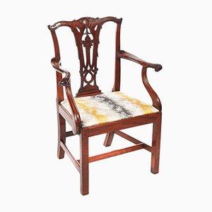 Antique George III Mahogany Desk Chair, 1800s