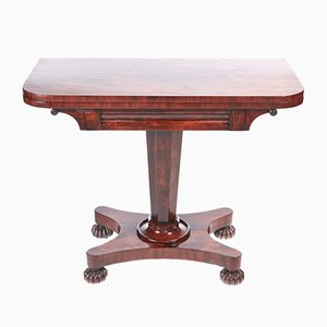 Table de Jeux Antique Victorienne en Acajou