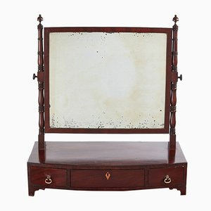 Georgian Mahogany Dressing Table with Mirror, 1800s