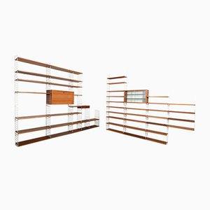 Estantería grande de teca de Kajsa & Nils Nisse Strinning para String, años 60