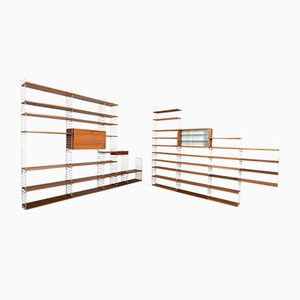 Large Teak Shelf System by Kajsa & Nils Nisse Strinning for String, 1960s