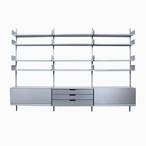 Librería modelo 606 Mid-Century de aluminio de Dieter Rams para Vitsœ
