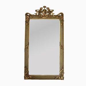 Specchio Art Nouveau dorato, Francia, inizio XX secolo