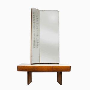 Toeletta vintage e specchio, anni '60