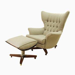Modell 62 Sessel & Fußhocker von G Plan, 1960er