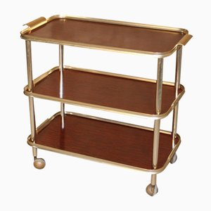Vintage 3-Tier Serving Bar Cart, 1960s