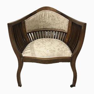 Chaise d'Angle ou d'Appoint Époque Édouard VII Antique en Acajou, Palissandre et Marqueterie