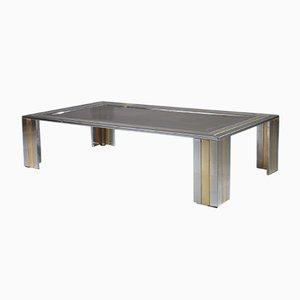 Tavolino da caffè in metallo di Romeo Rega, anni '70
