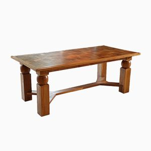 Natural Wood Dining Table by Baptistin Spade, 1950s