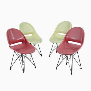 Chaises de Salon Mid-Century, 1960s, Set de 4