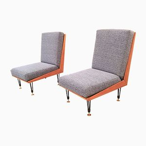 Italian Fireside Chairs, 1950s, Set of 2