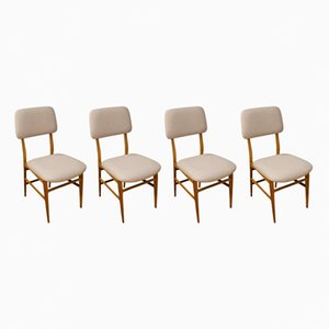 Vintage Italian Dining Chairs, 1950s, Set of 4