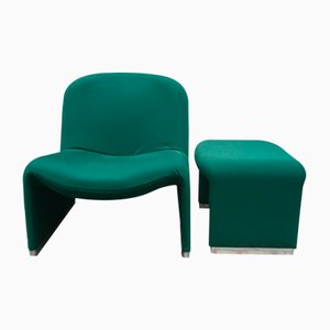 Alky Lounge Chair & Ottoman by Giancarlo Piretti for Castelli, 1970s