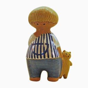 Figurine Malin Vintage en Céramique par Lisa Larson pour Gustavsberg